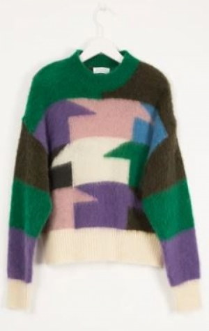 BRUSHED MOHAIR SWEATER MULTICO logo